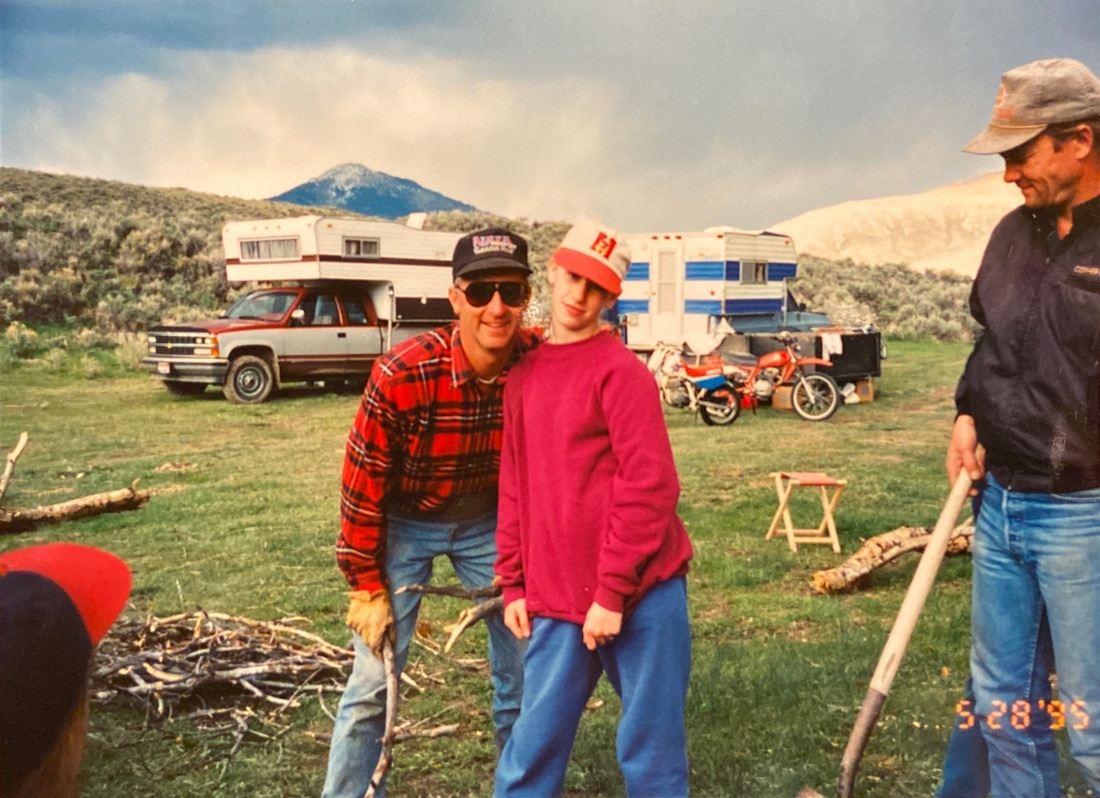 Me and Dad. Camping in Idaho